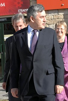 Gordon Brown in Swindon