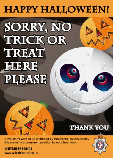 No to Trick or Treat poster