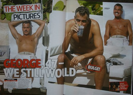 George Clooney and Swindon - according to HEAT magazine
