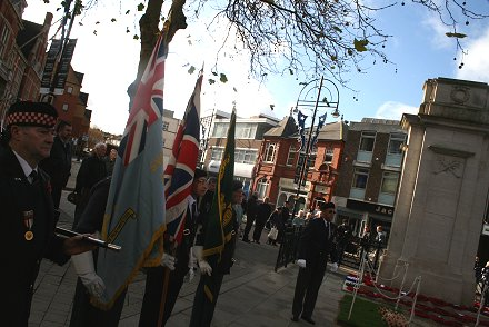 Remembrance day in Swindon 2008