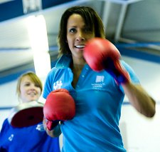Kelly Holmes in Swindon at Greendown School