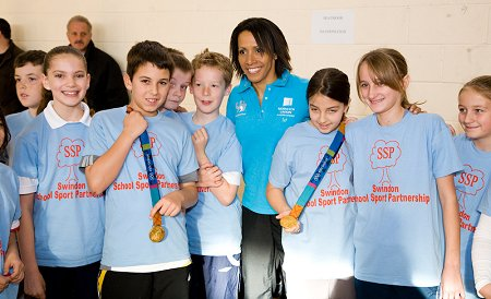 Kelly Holmes in Swindon