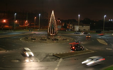 Swindon Magic Roundabout at Christmas