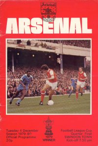 Arsenal v Swindon 04 December 1979