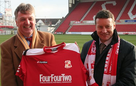 Swindon chairman Andrew Fitton and new manager Danny Wilson
