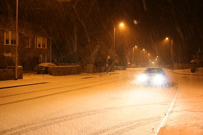 Snow in Highworth, 05 Feb 2009