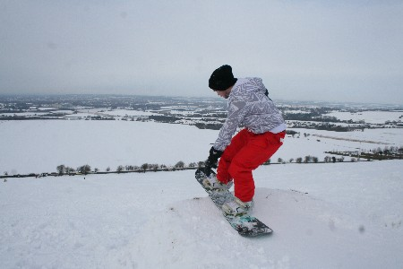 Snowboarding Swindon 08 Feb 2009