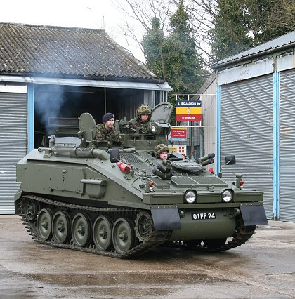 Tanks in Swindon at the TA Wiltshire Centre