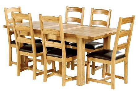 Easyliving Furniture have a Hampshire Table and six chairs