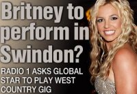 Britney Spears to appear in Swindon?