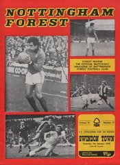 Nottingham Forest v Swindon FA Cup 1978