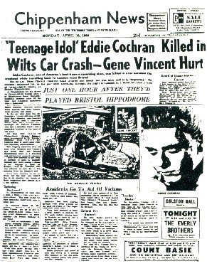 Eddie Cochrane car crash Chippenham