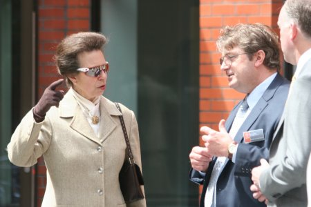 The Princess Royal in Adidas sunglasses