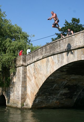 Lechlade Bridge Jumping, near Swindon