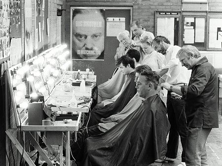 1984 hair-cutting at Talk of the Town