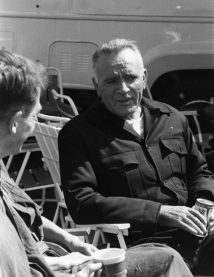 Richard Burton during filming of 1984, his last-ever film