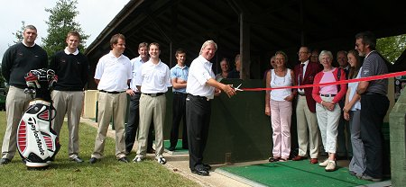 Peter Mitchell opens the new academy at Wrag Barn Golf Club