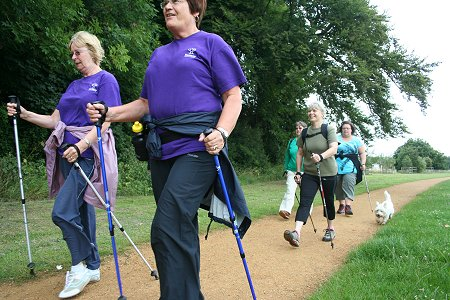 Nordic Walking at Stanton Park, Swindon