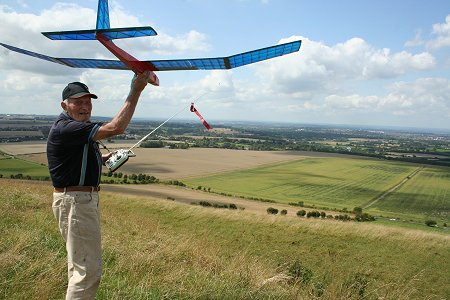 Model Flying in Swindon on Liddington Hill