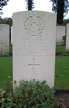 Grave of Cliff Wilson, Arnhem hero from Swindon