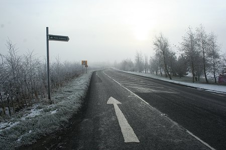 A361 Swindon frosted over 2009