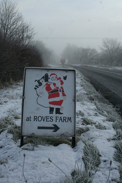A361 near Highworth frosted over