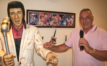 Elvis and Joe Galati at Graceland, Swindon