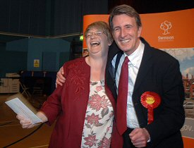 Anne Snelgrove & Michael Wills win their Swindon seats at the General Election 2005