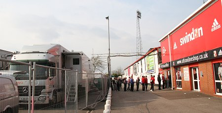 SKY cameras at Swindon Town FC