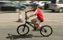 Kids cycling Swindon