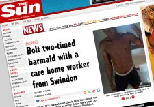 Usain Bolt and Swindon