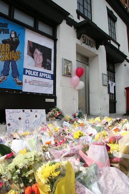 Flowers laid for Sian O'Callaghan at Suju