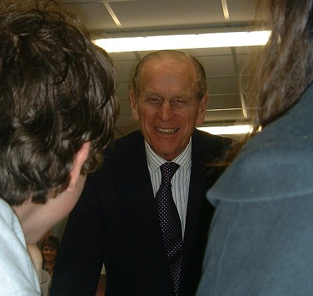 The Duke of Edinburgh at New College - 28 February 2003