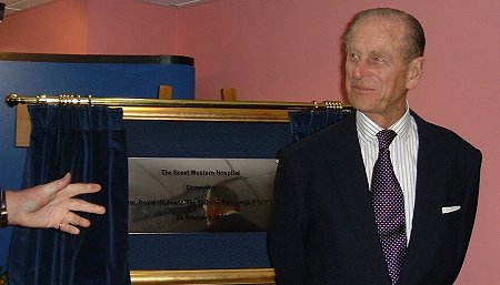 The Duke of Edinburgh in Swindon 28 February 2003