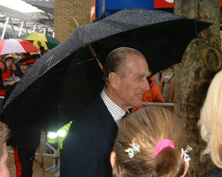 Duke of Edinburgh in Swindon - 28 Feb 2003