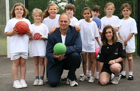 Sir Steve Redgrave in Swindon at Haydonleigh School