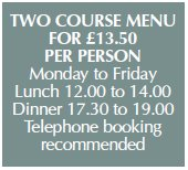 Rose & Crown at Ashbury Lunch Offer