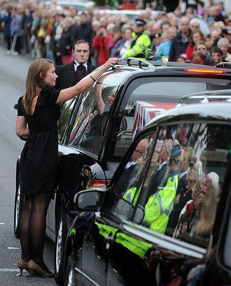 Repatriation of Daniel John Clack, Wootton Bassett, 18 August 2011