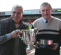 Don Rogers & Roger Smart with the League Cup