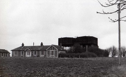 Water Towers off Ladysmith Road. 1975. <br>Stuart Dobson