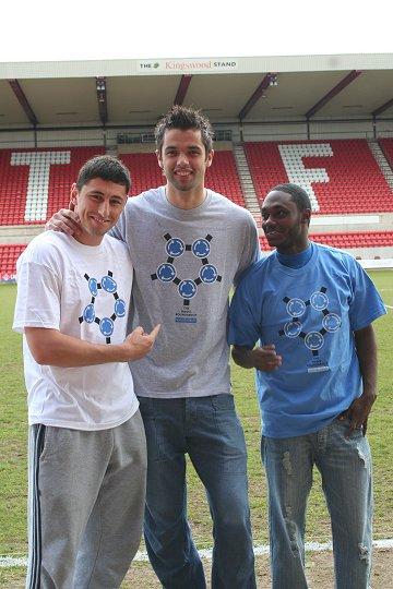 STFC's Billy Paynter, Peter Brezovan and Anthony McNamee