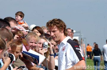Jenson Button in Swindon