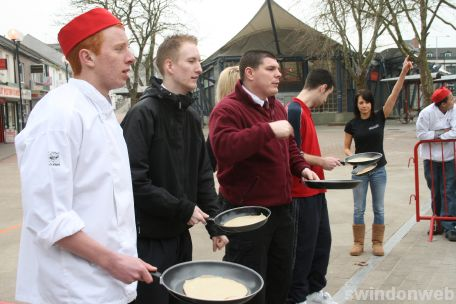 Pancake Day in Swindon