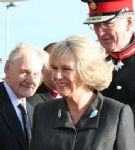 Camilla flies into Swindon