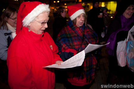 Carol singing in Swindon